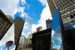 Urban City Skyline with Tall Towers