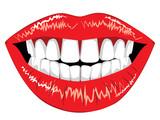 Female lips with teeth - 224831898