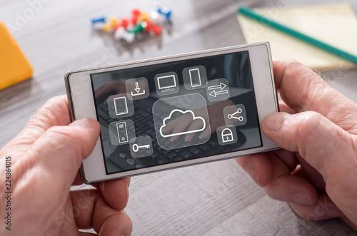 Foto Murales Concept of cloud computing