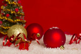 Red Christmas card background