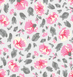 seamless floral pattern with flowers - 224897618