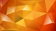 Abstract polygonal background of many triangles in orange colors