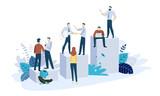 Vector illustration concept of career. Creative flat design for web banner, marketing material, business presentation, online advertising. - 224947010
