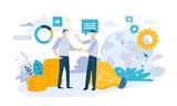 Vector illustration concept of partnership. Creative flat design for web banner, marketing material, business presentation, online advertising.  - 224947048