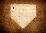 baseball home plate and dirt - 224954490