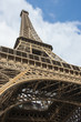 La Torre Eiffel vista dal basso