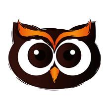Happy Halloween Owl Icon Sticker