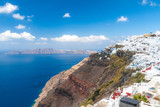 View to Imerovigli from Firastefani in Santorini - 224985850