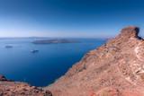 View to Skaros Rock in Santorini in Greece - 224988273