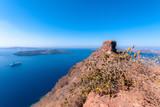 View to Skaros Rock in Santorini in Greece - 224988616