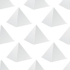 White pyramid mockup. 3d template. Seamless pattern © savanno