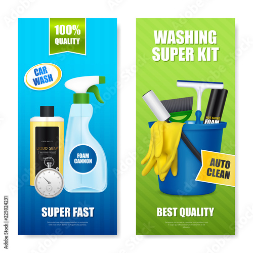 Auto Cleaning Kit Banners
