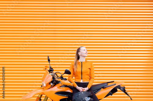 Pop orange color concept.