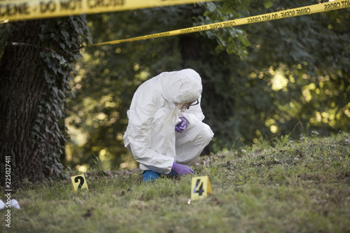 Leinwandbild Motiv Forensic found a mark
