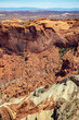 Detail of the scrambled geology inside Upheaval Dome in Canyonland National Park