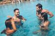 Quadro Couple in the pool