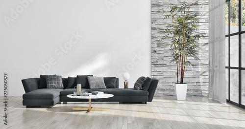 du? y luksus nowoczesny jasny wn? trze mieszkania Salon ilustracji 3D renderowania wygenerowane komputerowo obrazu