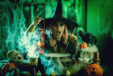 Witch Is Cooking Magic Potion - 225073035