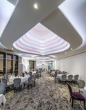 Restaurant with master ceiling made of embedded lights - 225073222