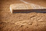 base on baseball field dirt - 225075461