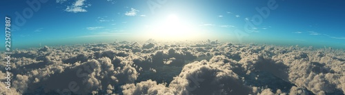 Beautiful clouds view from above,  - 225077887