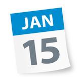 January 15 - Calendar Icon - 225086404