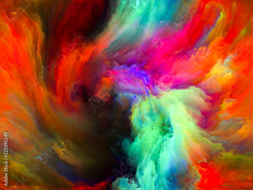 Leinwandbild Motiv Elegance of Color Motion