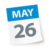May 26 - Calendar Icon - 225091244