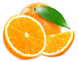 Quadro Fresh orange on white background