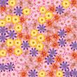 cute flowers pattern background - 225106098