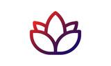 Lotus Icon with Gradient Design