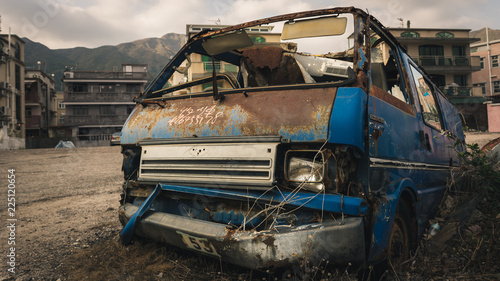 Abandoned rustic truck