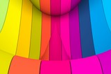colorful abstract background with line wave distortion 3d illustration