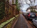 Winter street in Germany