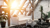 Comfortable cozy modern loft conversion - 225145633