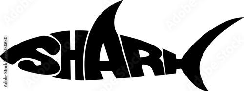Fototapeta stylized word in shape of shark