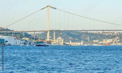 Ortakoy mosque and Bosphorus bridge, Istanbul, Turkey - 225176032