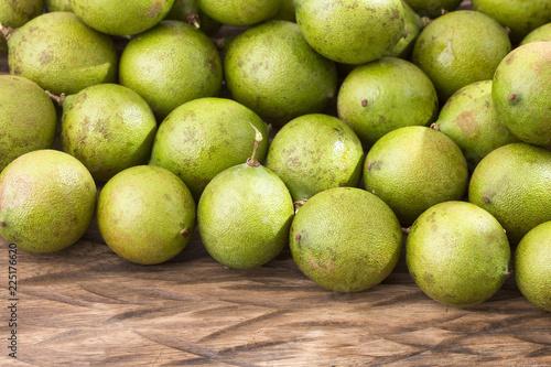 Foto Murales Fresh ripe peeled quenepa fruit - Melicoccus bijugatus
