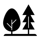 Forest solid icon. Trees vector illustration isolated on white. Nature glyph style design, designed for web and app. Eps 10.