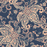 Paisley Vector Pattern. Seamless Asian Textile Background