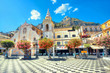 Leinwanddruck Bild - San Giuseppe Church at IX Aprile Square in Taormina. Sicily, Italy