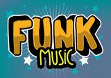 Funk Music Lettering Type Design Vector Image - 225201640