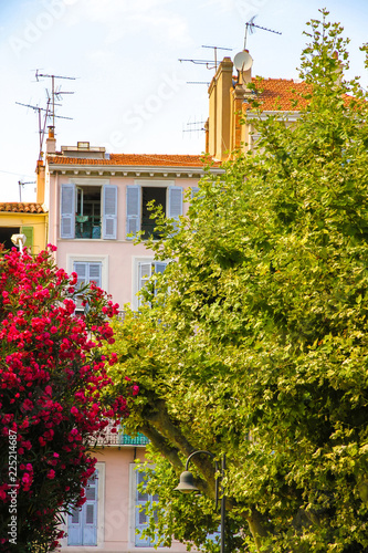 View on the historic architecture in Cannes, France on a sunny day.