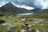 Stunning landscape image of countryside around Llyn Ogwen in Snowdonia during early Autumn - 225221243