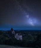 Vibrant Milky Way composite image over landscape of River Thames on Richmond Hill in London. - 225221406