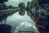 Landscape view of River Corrib (Irish: Abhainn na Gaillimhe). Galway, Ireland.