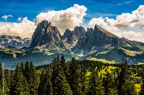 Leinwandbild Motiv Classic Dolomites view from Seiser Alm