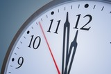 Deadline and time concept. Close up view on clock showing twelve hours. 3D rendered illustration.