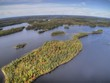 Boundary Waters Canoe Area in Fall seen from Above