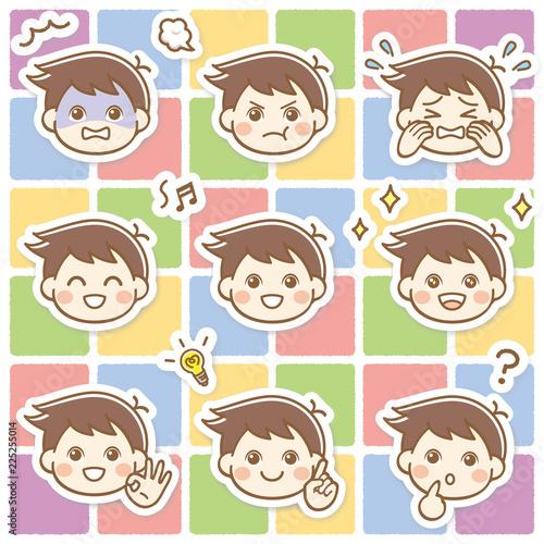 子供 男の子 表情 セット - 225255014